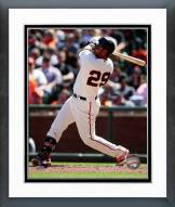 San Francisco Giants Hector Sanchez 2014 Action Framed Photo