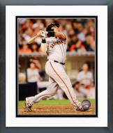 San Francisco Giants Hector Sanchez 2015 Action Framed Photo