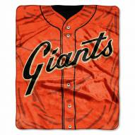 San Francisco Giants Jersey Raschel Throw Blanket