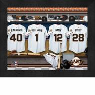 San Francisco Giants Personalized Locker Room 11 x 14 Framed Photograph