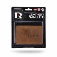 San Francisco Giants Brown Leather Trifold Wallet