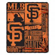 San Francisco Giants Strength Fleece Blanket