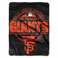 San Francisco Giants Structure Micro Raschel Blanket