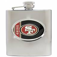 San Francisco 49ers NFL 6 Oz. Stainless Steel Hip Flask