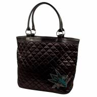 San Jose Sharks Sport Noir Quilted Tote