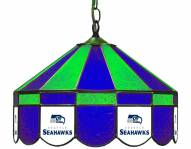 "Seattle Seahawks NFL Team 16"" Diameter Stained Glass Pub Light"