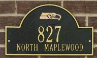 Seattle Seahawks NFL Personalized Address Plaque - Black Gold