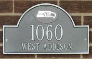 Seattle Seahawks NFL Personalized Address Plaque - Pewter Silver