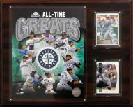 "Seattle Mariners 12"" x 15"" All-Time Greats Photo Plaque"
