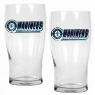 Seattle Mariners 20 oz. Pub Glass - Set of 2