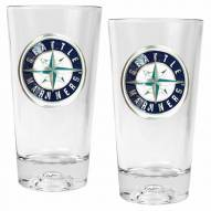 Seattle Mariners Baseball Sculpted Bottom Pint Glass Set
