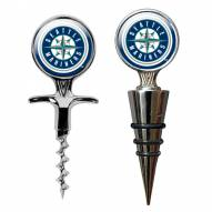 Seattle Mariners Cork Screw & Wine Bottle Topper Set