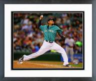 Seattle Mariners Felix Hernandez 2014 Action Framed Photo