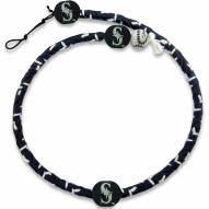 Seattle Mariners Frozen Rope Color Baseball Necklace