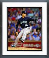Seattle Mariners Hisashi Iwakuma 2014 Action Framed Photo