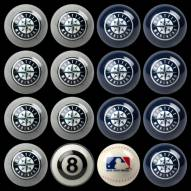 Seattle Mariners MLB Home vs. Away Pool Ball Set