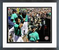 Seattle Mariners Ichiro Suzuki 1,000th Career Run Framed Photo