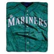 Seattle Mariners Jersey Raschel Throw Blanket