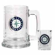 Seattle Mariners MLB Boilermaker Set - Shot Glass & Tankard Mug