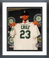 Seattle Mariners Nelson Cruz 2015 Press Conference Framed Photo