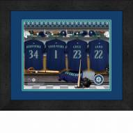 Seattle Mariners Personalized Locker Room 13 x 16 Framed Photograph