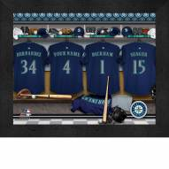 Seattle Mariners Personalized Locker Room 11 x 14 Framed Photograph