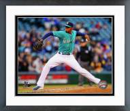 Seattle Mariners Roenis Elias 2014 Action Framed Photo