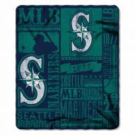 Seattle Mariners Strength Fleece Blanket