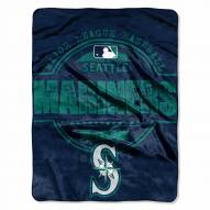 Seattle Mariners Structure Micro Raschel Blanket