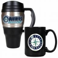Seattle Mariners Travel Mug & Coffee Mug Set