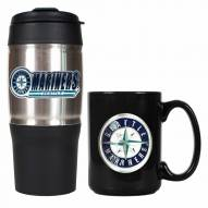 Seattle Mariners Travel Tumbler & Coffee Mug Set