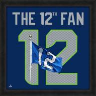 Seattle Seahawks 12th Fan Uniframe Framed Jersey Photo