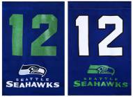 Seattle Seahawks 12th Man Double Sided Glitter Garden Flag