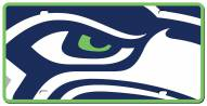 Seattle Seahawks Acrylic Mega License Plate