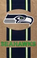 Seattle Seahawks Burlap Flag
