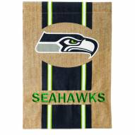 Seattle Seahawks Burlap Garden Flag