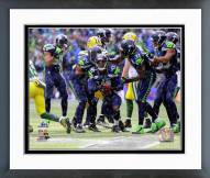 Seattle Seahawks Byron Maxwell Interception 2014 Playoffs Framed Photo