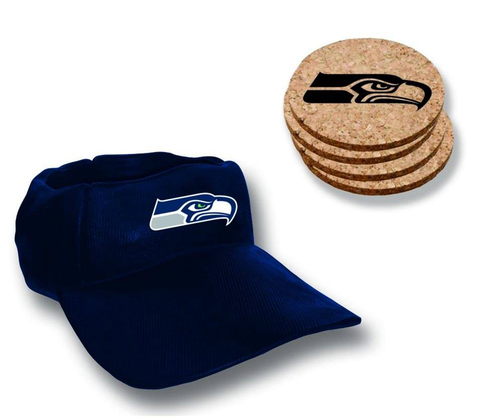 seattle seahawks cap coaster set. Black Bedroom Furniture Sets. Home Design Ideas