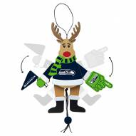 Seattle Seahawks Cheering Reindeer Ornament