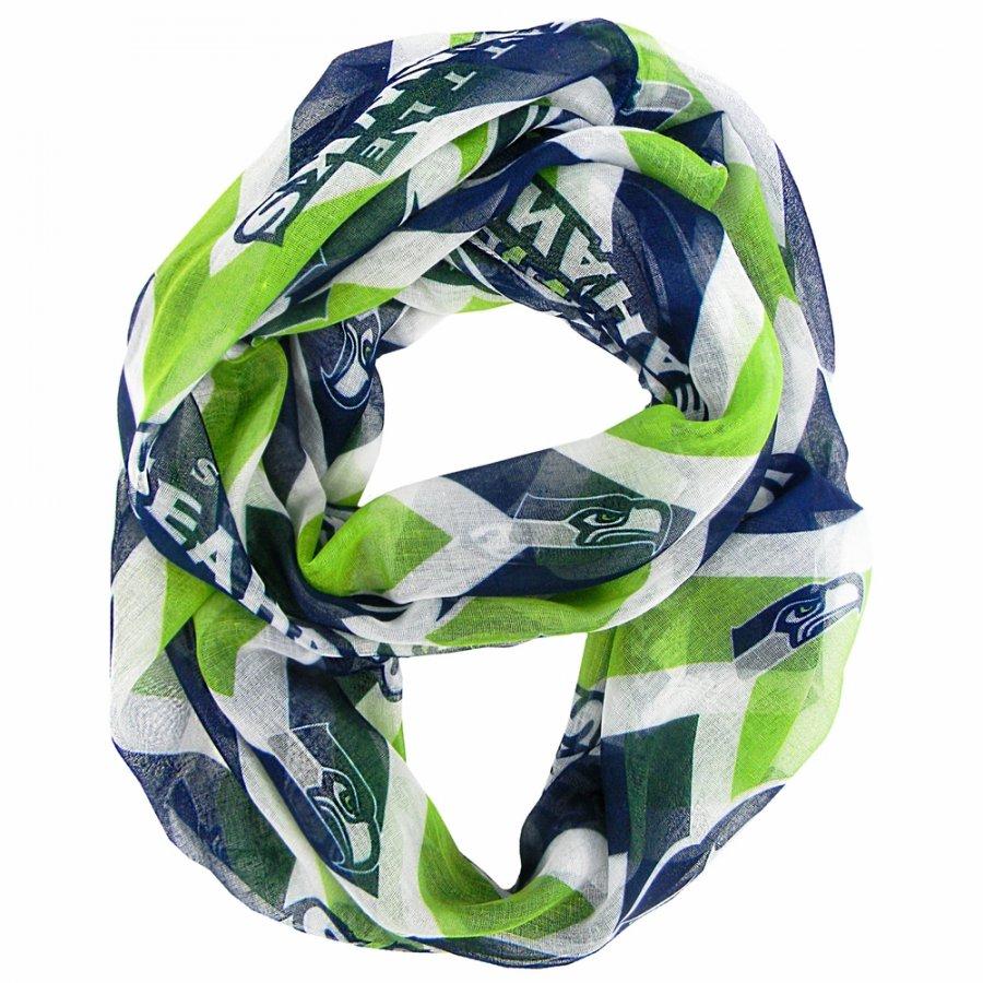 Seattle Seahawks Chevron Sheer Infinity Scarf