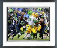 Seattle Seahawks Cliff Avril NFC Championship Game Action 2014 Playoffs Framed Photo