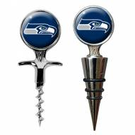 Seattle Seahawks Cork Screw & Wine Bottle Topper Set