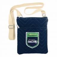 Seattle Seahawks Crest Chevron Crossbody Bag