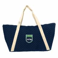 Seattle Seahawks Crest Chevron Weekender Bag