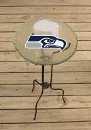 Seattle Seahawks Glass Bird Bath