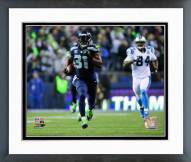 Seattle Seahawks Kam Chancellor Interception 2014 Playoff Action Framed Photo