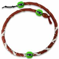 Seattle Seahawks Leather Football Necklace