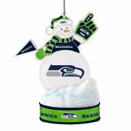 Seattle Seahawks LED Snowman Ornament
