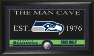 Seattle Seahawks Man Cave Minted Coin Panoramic Photo Mint