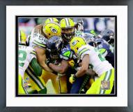 Seattle Seahawks Marshawn Lynch 2014 NFC Championship Game Action Framed Photo